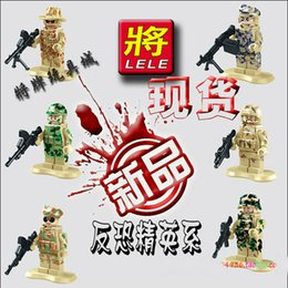 Wholesale 6pcs set Squad Navy Seal Team Swat Army Builder Custom SWAT Police City Officer Riot Minifigure war cs brick Compatible