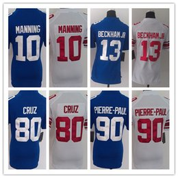 Wholesale Cheap lady Eli Manning Jersey Odell Beckham Jr Jersey Best Quality New York Football Jerseys Authentic Womens Game Stitched Jersey
