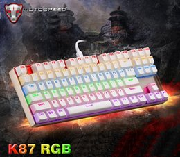 Wholesale Motospeed K87 RGB Key Aluminium Panel USB Wired Backlit Mechanical Gaming keyboard With Ten Types of Backlighting