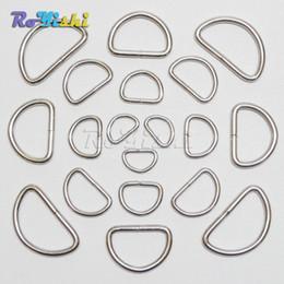 "100pcs lot 3 8"" 1 2"" 5 8"" 3 4"" 1"" Nickel Plated D Ring Semi Ring Ribbon Clasp Knapsack Belt Buckle"