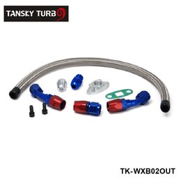 Wholesale TANSKY High performance TURBO OIL DRAIN RETURN LINE KIT AN FITTING FOR TURBOCHARGER T3 T4 GT45 T04 TK WXB02OUT