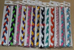 300pcs New triple woven baseball headband soft braided mini headband hair accessories for girl and women