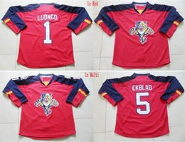 Wholesale Factory Outlet For Sale Cheap Florida Panthers Hockey Jerseys Roberto Luongo Aaron Ekblad Jersey Home Stitched Embroidery Logos Whole