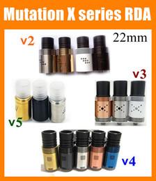 Rebuildable Atomizer Mutilator Mutation X V3 4 5 RDA Tank 22mm 9 Holes Control Airflow Indulgence Mutation x V3 Atomizer DHL ATB216