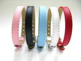 20PCS Lot 8MM Genuine Leather Wristband Bracelets DIY Accessory Fashion Wristband Fit 8MM Slide Letters Slide Charms Five Colors WB05