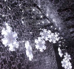Boda de luces navideñas al por mayor 3M-132 SMD luz LED de cadena Hada 12 fiesta de Navidad de la cortina de luz Copo de nieve grande supplier big snowflake light desde gran luz de copo de nieve proveedores