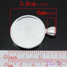 Wholesale Charm Pendants Round Silver Plated Cabochon Setting Fits mm Dia x2 cm B29218 pendant lighting for kitchen pendant guitar