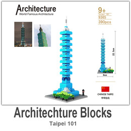 Wholesale LOZ Architecture Building Block Toy Taipei ABS Material Blocks each Set with Retail Package