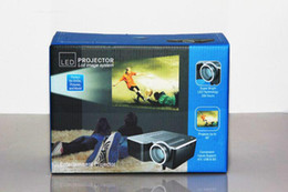 2015 Good quality Mini projector UC28+ LED Mini Portable Home Theater Video Projector PC&Laptop VGA USB SD AV with retail package