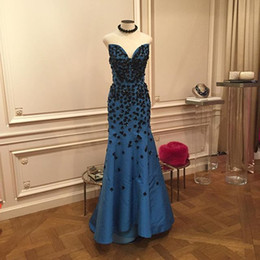Black Applique Sweetheart Mermaid Formal Evening Dresses New Real Image Satin Long Elegant Prom Dress Sexy Party Gowns Vestidos Chic