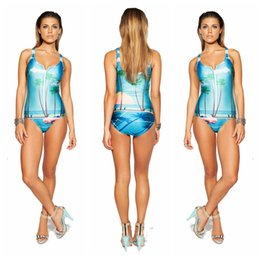 Wholesale New Summer Women Scene printing D One Piece Swimsuit Swimwear Bathing Suit beach suits plus size