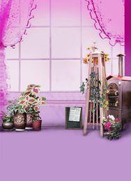 Wholesale 600CM CM backgrounds Pink elegant enchanting seduction charming wooden bookcase lockers i photography backdrops photo LK