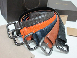Wholesale Fashion Woman Men s mm Weave Leather Harness Buckle Belt