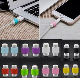 silicone digital cable protector Cord Wire Cable Protecotors Cover Wrap Protective sleeves winder for iphone cable free shipping