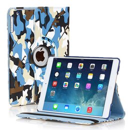 Camouflage 360 Degree Rotating Flip Stand PU Leather Stand Case Smart Cover For iPad 2 3 4 5 6 Air Air2 Mini Mini2 Mini3 iPad5 iPad6 iPad2