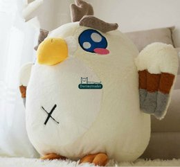 Wholesale Dorimytrader New Coming cm Lovely Stuffed Soft Plush Giant Animal Eagle Toy Nice Birthday Gift DY60381