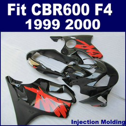 Customize black red INJECION fairing kit for 1999 2000 HONDA CBR600 F4 fairings CBR 600 F4 full fairing kits