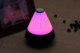 Wholesale 2015 New Hot Selling LED Night Light Bluetooth Speakers Colors Beautiful Light Mini HiFi Wirless Stereo Portable Speaker With mic