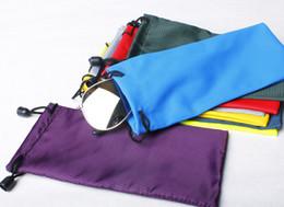 Wholesale-wholesale 2000pcs Waterproof leather plastic sunglasses pouch soft eyeglasses bag glasses phone case free shipping