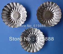 Wholesale B016 Round Bottom Eggs Tart Molds Pudding Ice Cube DIY Cake Stencil Oven Accessories Tools Aluminum Moulds