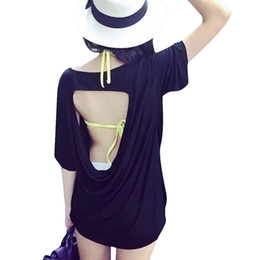 2016 Summer T-Shirts for Women Sexy T Shirt Tees Offer Shoulder Short Sleeved Ladies Tops Blackless Blusas Loose Black White