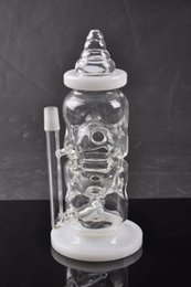 2016 Fab Egg Baby Bottle Smoking Bong oil rigs glass bongs water pipe glass bongs with pinholes diffusor sturdy quality glass dab rigs