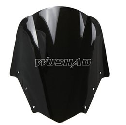 Motorcycle Double Bubble Windshield WindScreen For 2006-2011 Yamaha FZ1 Fazer FZ1S FZS1000S 09 10 11 2007 2008 2009 2010 Black