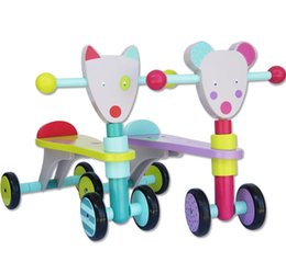 12-36M baby's favorate Four wheel Walker wooden Ride On Car