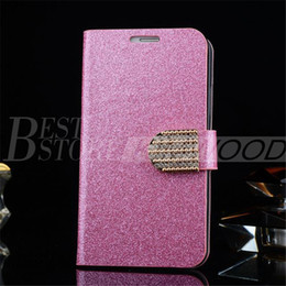 Wholesale 2015 New Design Glitter Auger Leather Phone Case With Card Slot For Samsung S6 S5 Note Iphone S Iphone S Samsung S4