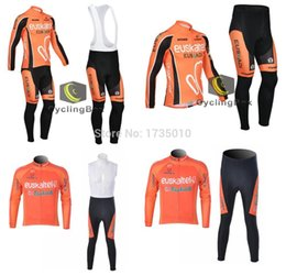 Wholesale-Euskaltel Cycling jersey long sleeves and bib kits suit bicycle bike men sport tight suit ropa ciclismo clothing MTB