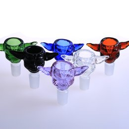 Wholesale Smokingdogo Star Wars Yoda Glass Bowl with mm and mm Joint glass bowls for bongs Colorful Glass Bowls