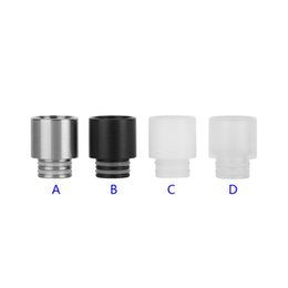 Stainless Steel Resin 510 Drip Tips SS Black White Clear Wide Bore Drip Tip for 510 EGO Atomizer Mouthpieces RDA Vaporizer Box Mod