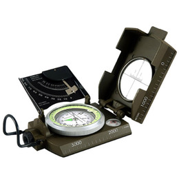 Wholesale EK4076 Military Compass Sighting Compass Metal Survival Gear Hiking Satellite Army Green W2237G