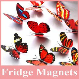 Hot Sell 100 pcs lot Decorative Butterfly Magnet, Artificial Butterflies for Home Decoration, Butterfly Magnet for Fridge Magnet