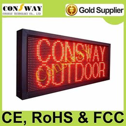 Wholesale-DHL Freeshipping and CE certificated passed outdoor red color p10 led display and size 40*104cm