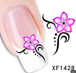 1Pcs Nail Art Water Sticker Nails Beauty Wraps Foil Polish Decals Temporary Tattoos Watermark + Free Shipping (XF1428)