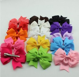10% OFF hot sale !100pcs lot Grosgrain Ribbon HairBow,Baby Hairbows Girl Hair Bows With Clip,Kids Hair Accessories Drop Shipping!