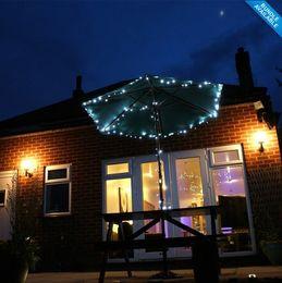 Descuento luces de hadas blancas con pilas 2pcs / Lot 100 LED blanco solares Luz de Navidad al aire libre Jardín Luz Solar Powered luz de la batería de Cuerda en Perfecto para característica Jardín