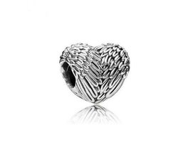 Wholesale PANDORA ancient silver Angel wings feathers love big mail eye shape alloy Beads Fit Charm Hand chain