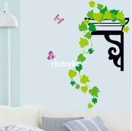Wholesale 10pcs wall stickers home decor Three generations living room TV wall stickers wall sticker living room bedroom room background corner decora