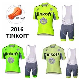 Tour De France 2016 Tinkoff Saxo Bank Cycling Jerseys Three Style Bicycle Wear Short Sleeve Jersey Short Sleeves Shirts With White Bib Pants