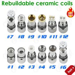 Cheapest Glass atomizer 12 types dual ceramic rebuildable coils for wax dry herb vaporizer pen herbal vaporizer vapor e cigarette core
