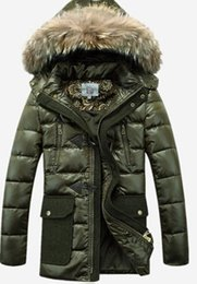 Wholesale Fall The cabinet pull lion authentic men long down jacket A clearance outside the upset a man wear down jacket
