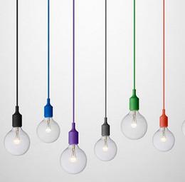 Wholesale Muuto E27 Pendant lamp multi colors pendant light art decor modern pendant lighting dinning room shop decoration single head colorful