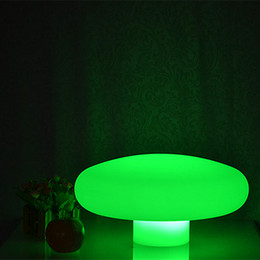 Remote Control 40*Height 20 cm Waterproof Multi Colors Mushroom Lamp Rechargeable Touch Sensor Fungus LED Night Light Desk Lamp