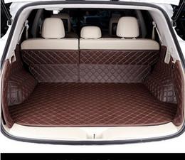 Nissan cuir murano en Ligne-Bonne qualité d'expédition gratuit! Nattes spéciales voiture du tronc pour Nissan Murano 2016 imperméables tapis de bagages en cuir résistant à l'usure pour Murano 2015