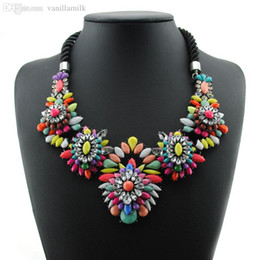 Wholesale New Luxury Crystal Necklace Fashion Shourouk Collares Rope Chunky Choker Statement Necklaces & Pendants For Women