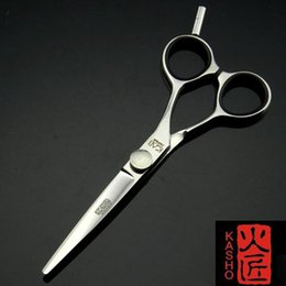 Wholesale Kasho Blue Series Offset quot KCB55 professional hair scissors hairdressing hair cutting scissors barber thinning ciseaux coiffure dropship