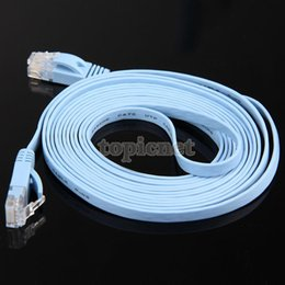 Wholesale ASLT M RJ45 CAT6 Gbps Thin Flat Fiber Optic Network Flat Cable Wire Durable order lt no track
