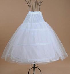 Faldas para las muchachas de los niños en Línea-El más barato de la bola blanca niña de las flores de la falda del vestido Enaguas niños Kid Dress Enaguas para la boda vestido suave de la enagua de Puffy Dresses